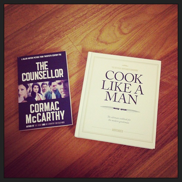 The counsellor, cormac mccarthy, movember, cookbook, cook like a man, offical,